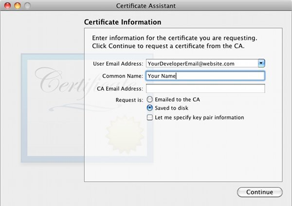 Self Sign iPhone Development Certificate