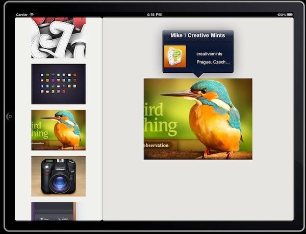 Dribbble iPad app