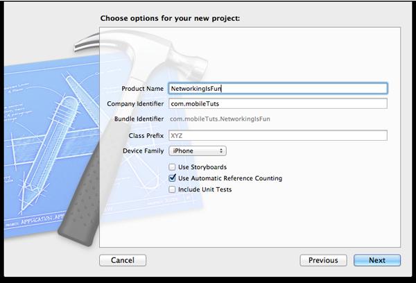 AFNetworking is Fun: Project Setup - Figure 2