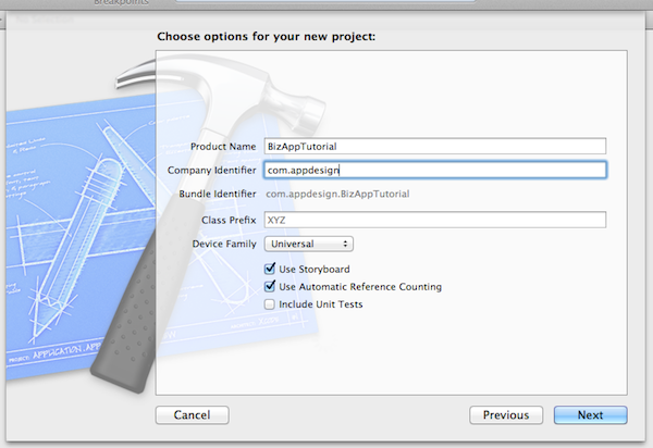 Xcode Project Template Creation