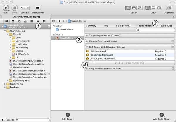 Adding Frameworks in Xcode 4