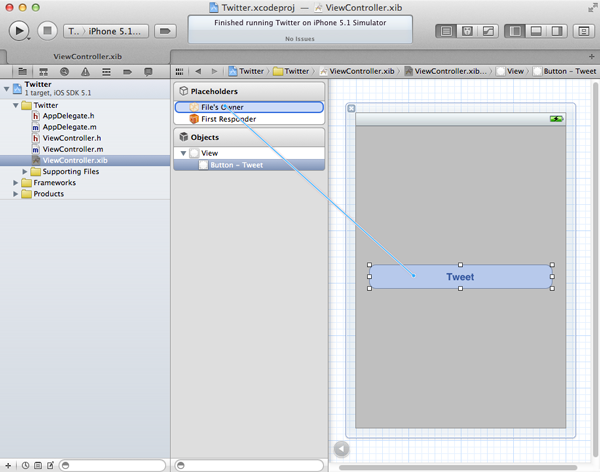 iOS 5 and The Twitter Framework (Part 1): Setting Up The User Interface - Figure 6