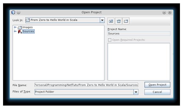 NetBeans Open SBT Project