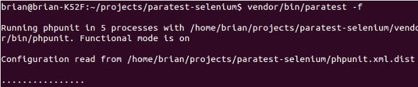 running selenium tests with ParaTest