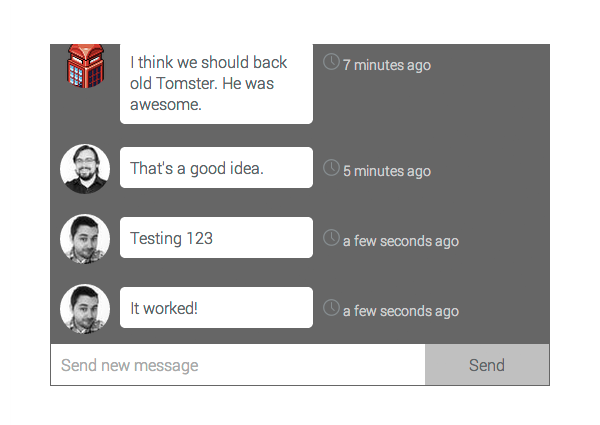 Group Chat Creating Messages