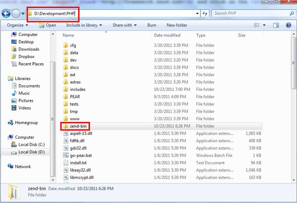bin folder location