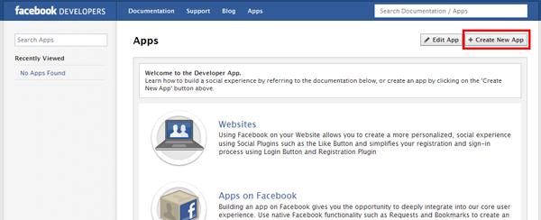 Developer App homepage