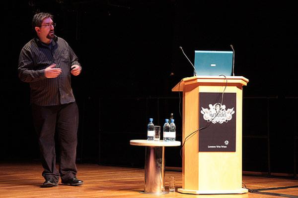 Jonathan speaking at a seminar