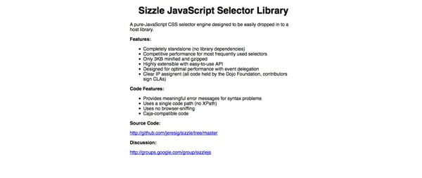 Sizzle Screenshot