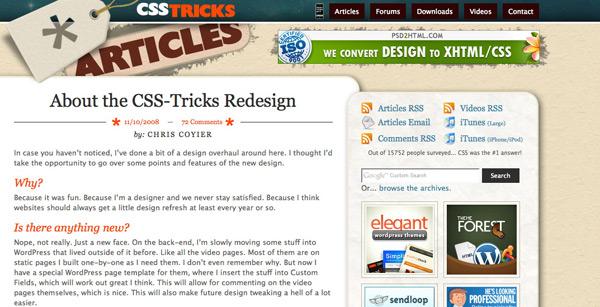 CSS Redesign Screenshot