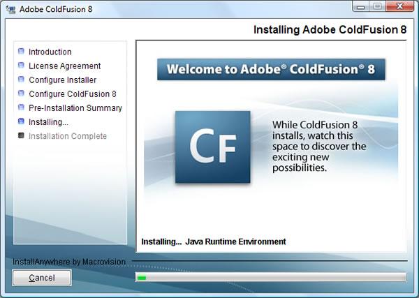 Adobe ColdFusion 8 Splash Screen
