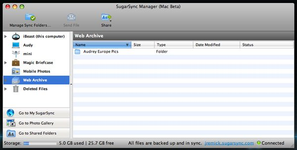 SugarSync Files