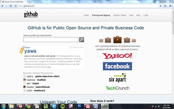 GitHub Home Page