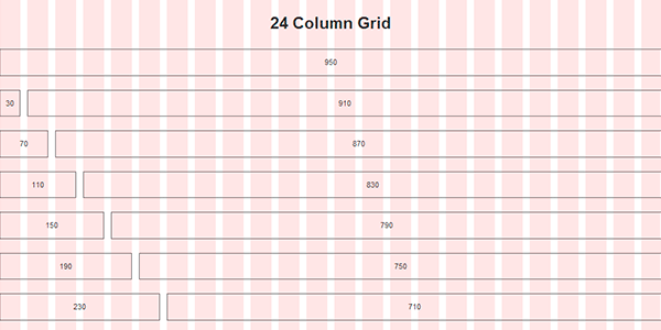 top section of the 24-column 960 demo