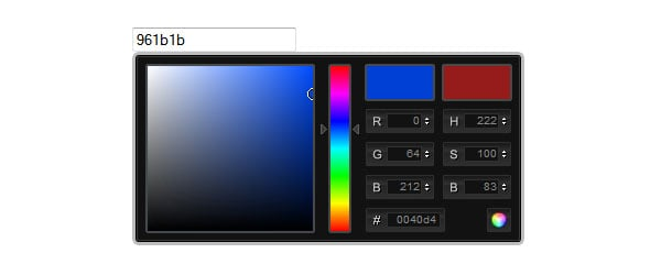 jQuery ColorPicker as fallback for color input