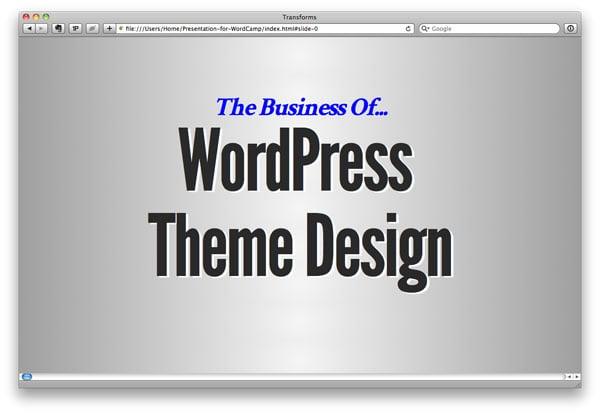 The Business of WordPress Theme Design