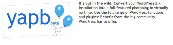 Wordpress plugin Yet Another Photoblog