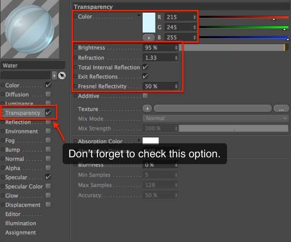 Material Editor Transparency