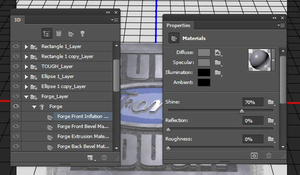 Edit Front Inflation Material