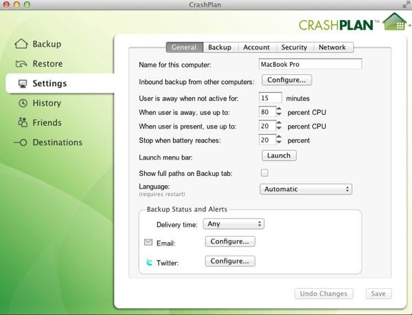 CrashPlan has a lot of configurable options which might be somewhat daunting If you can navigate through them then it is a very powerful backup tool