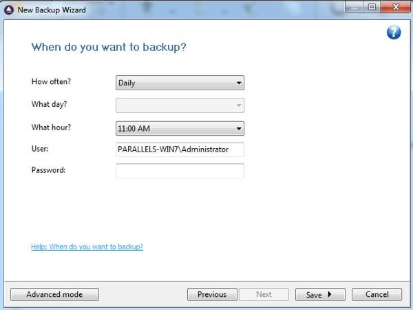 FBackup runs on a schedule that you can set the more frequent the backups the more redundancy you have