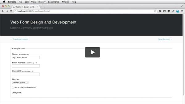 Web Form Design and Development