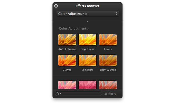 Effects Browser