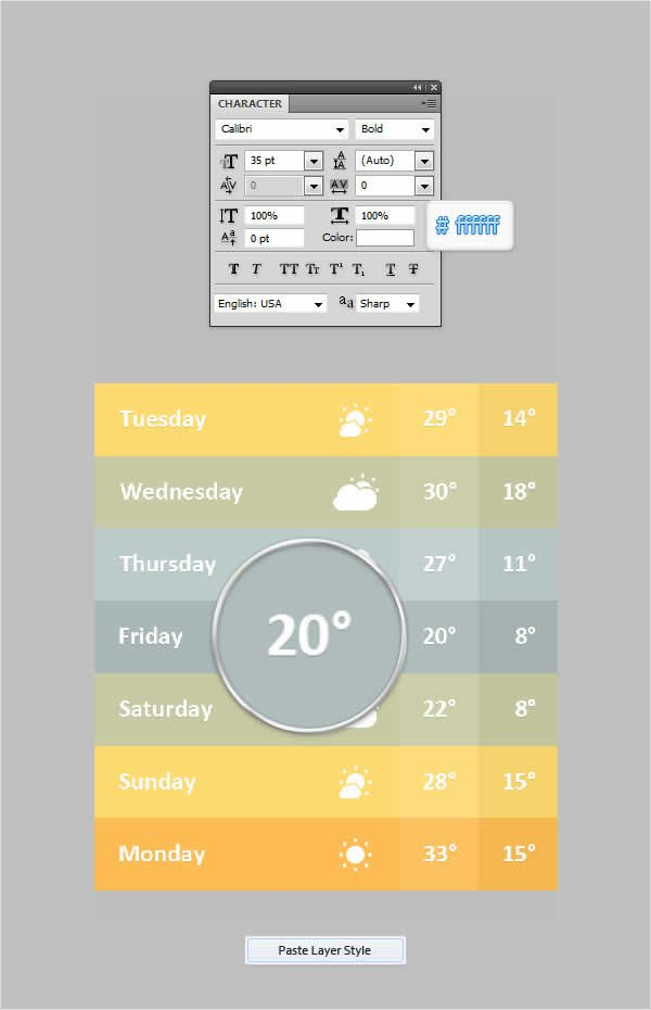 Mobile Weather App Interface