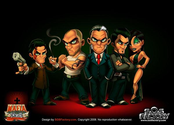 Mafia Death character design