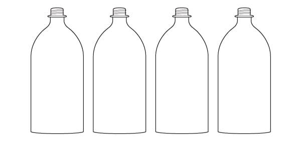 bottom cut bottle lineup
