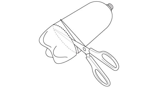 cutting bottle bottom