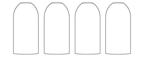 neck cut bottle lineup
