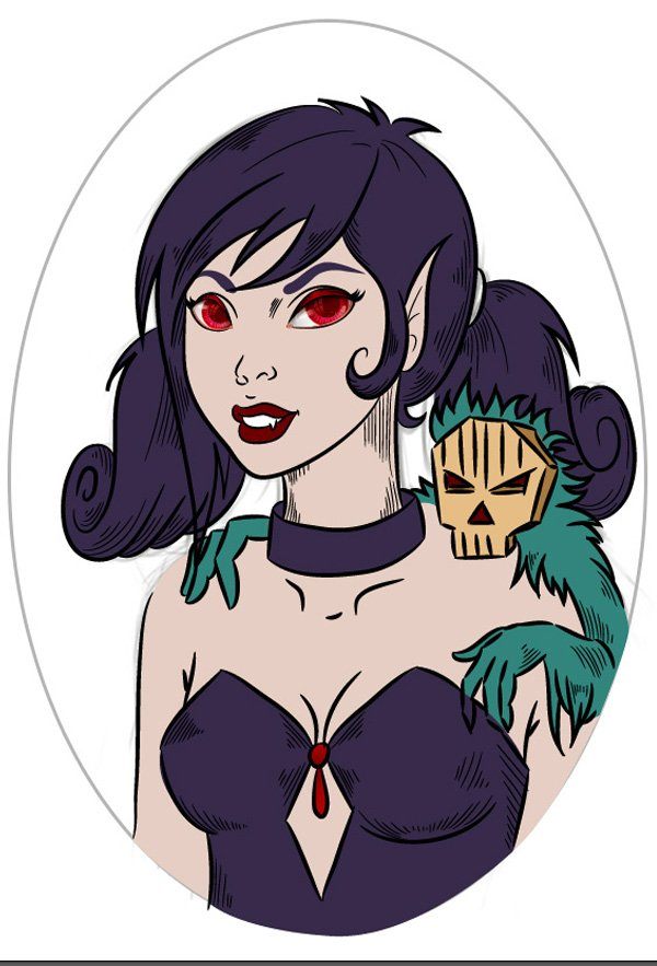 Vampiress_Adding_Separate_Colored_Shapes