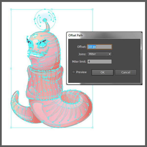 worm-offset-path-settings