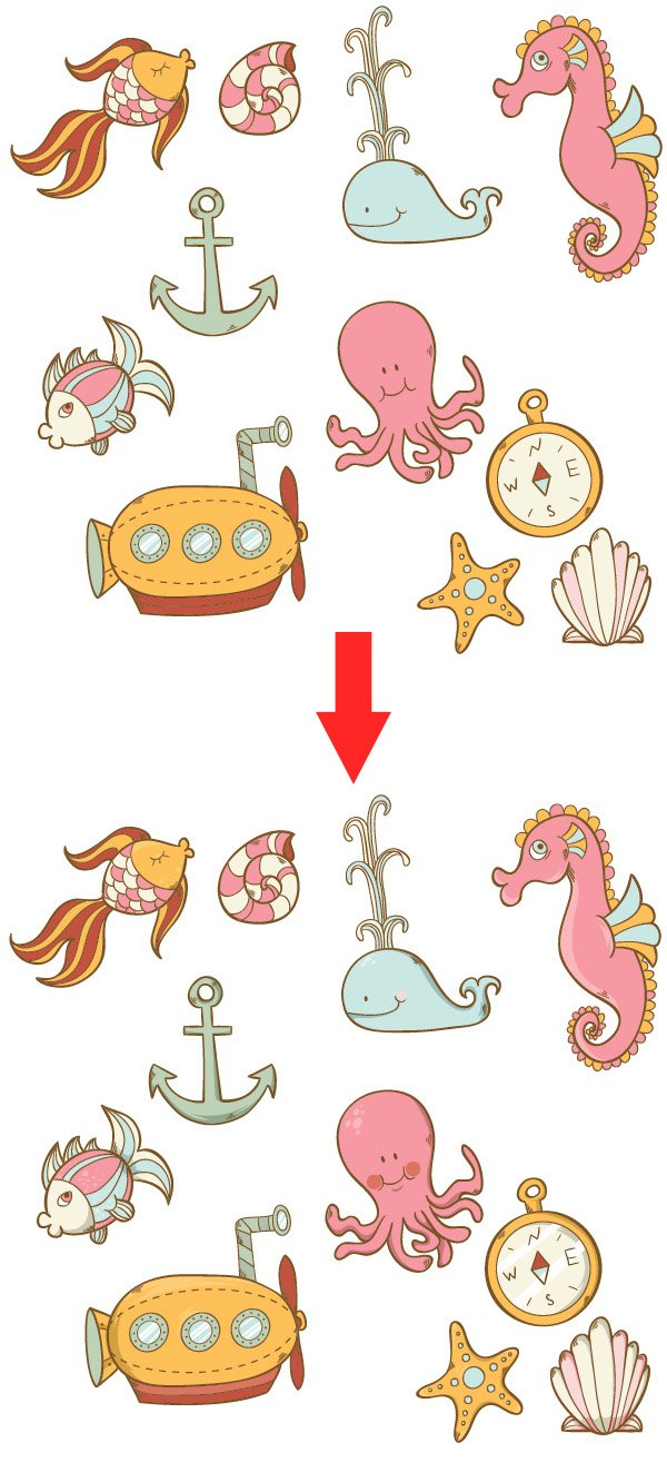 Sea-Pattern-Coloring-Objects-and-Adding-Details