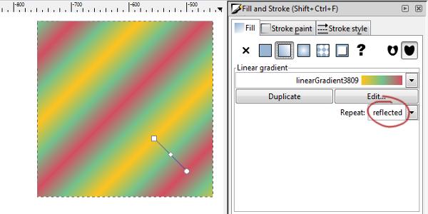 gradient repeat reflected