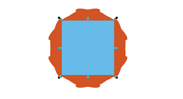 draw shape over polygon