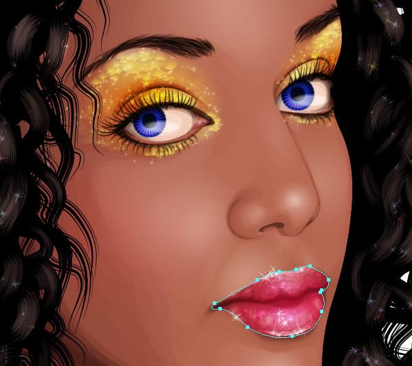 Glitter Portrait Tutorial