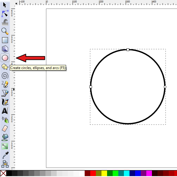 draw a perfect circle