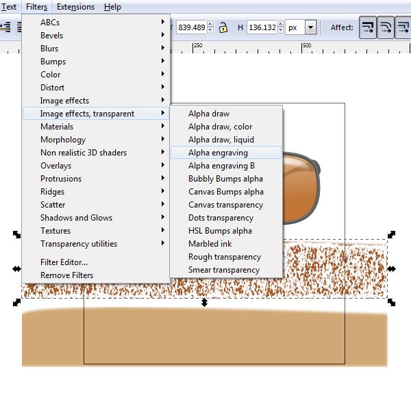 filter alpha engraving