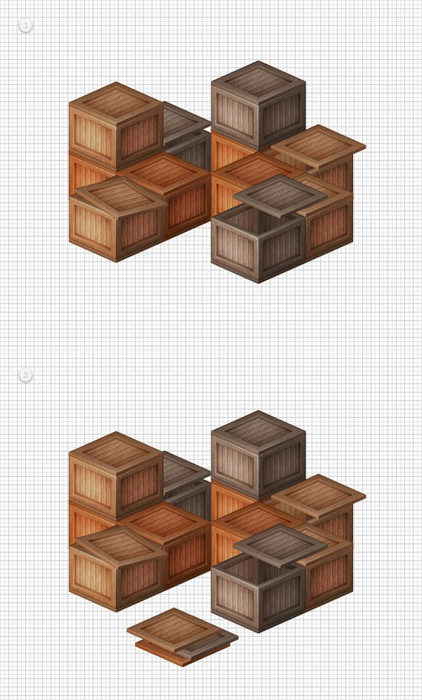 Stacked Wooden Boxes