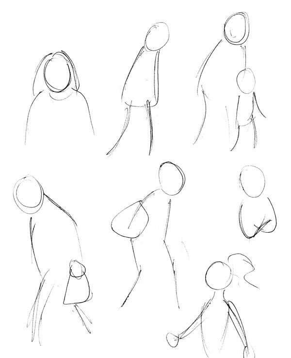 Crowd quick sketches