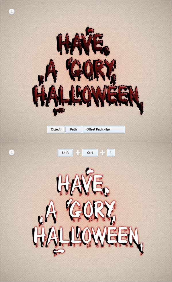 Blood Text Effect
