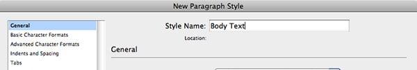 body text name