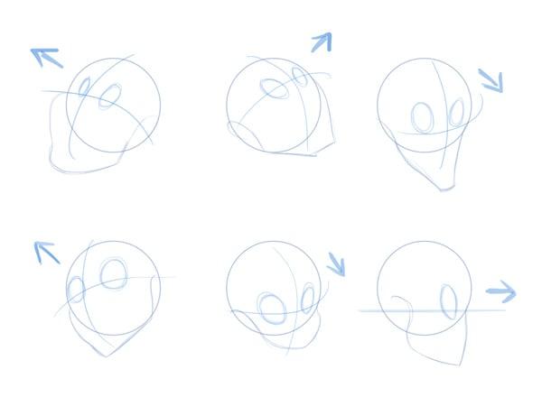 draw a cartoon face tutorial