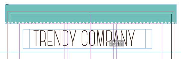 center trendy company textbox