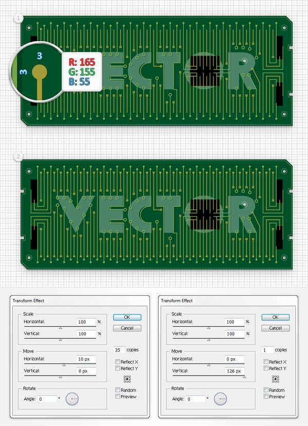 Circuit Board Text Effect