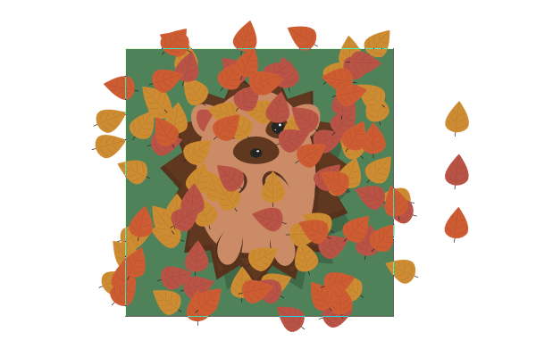 finish spraying all colored leaves