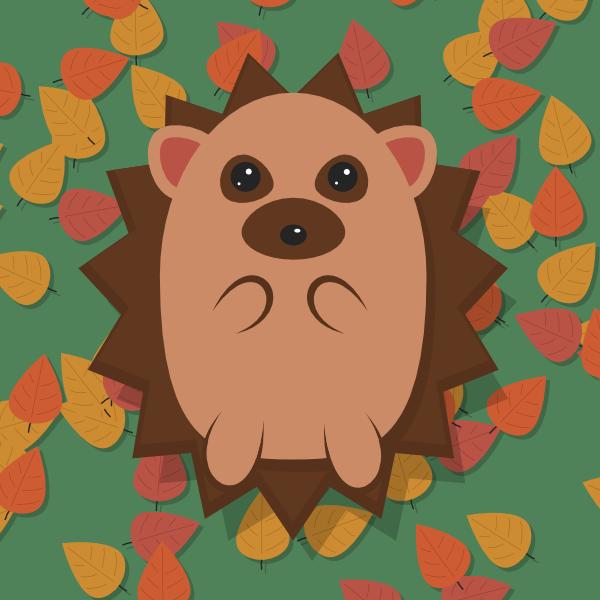 finished hedgehog