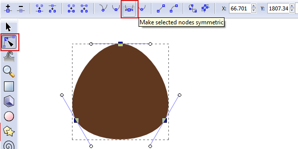 smooth selected nodes